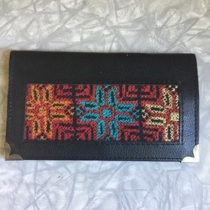 Vintage Embroidered Checkbook Wallet